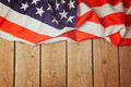United States of America flag on wooden background. 4th of july celebration Royalty Free Stock Photo