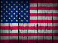 United states america grunge background usa flag painted wooden aged wall Stock Image