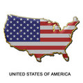 United States of America metal pin badge Royalty Free Stock Photo