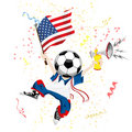 United States of America Soccer Fan Royalty Free Stock Photography