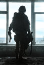 United states army ranger during the military operation Royalty Free Stock Image