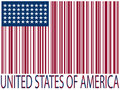 United states bar codes flag Royalty Free Stock Photo