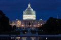 United States Capitol Building at Night Royalty Free Stock Photo