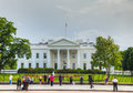 United states capitol building in washington dc may with tourists on may the white house is the official residence Royalty Free Stock Photo