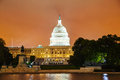United states capitol building in washington dc at sunset Royalty Free Stock Photo