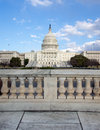United states capitol hill marble foreground Royalty Free Stock Photos