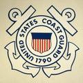 United States Coast Guard Insignia Royalty Free Stock Photo