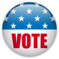 United States Election Vote Button. Stock Photo