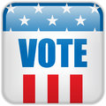 United States Election Vote Button. Stock Photos