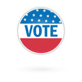 United States Election Vote Button Stock Photography