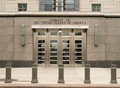 United states embassy in ottawa ontario canada an entranceway to the of the of america located Stock Image