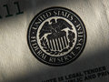 United states federal reserve system symbol close up Stock Photos