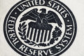 United states federal reserve system symbol close up shot of from dollar bill Royalty Free Stock Photo