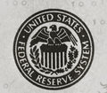 United states federal reserve system symbol from dollar bill Royalty Free Stock Photography