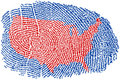 United States Fingerprint Stock Photography