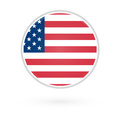 United States Flag Button Royalty Free Stock Photography