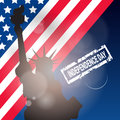 United States Flag Independence Day Holiday 4 July Banner
