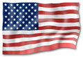 United states flag light shadow design Royalty Free Stock Photography