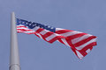 United states flag over blue sky Royalty Free Stock Photography