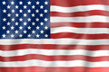 United states flag realisitic design Stock Photography