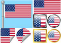 United States Flag Set Stock Photo