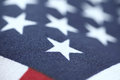 United states flag stars closeup detailed view of old fabric american Stock Images