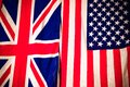 United states and kingdom flag Stock Photo