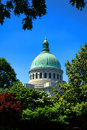United states naval academy chapel in annapolis md landmark dome of the house of worship for protestant and catholic religious Stock Photography