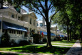 United states naval academy housing in annapolis md senior officer houses row and walkway on captain row at porter road at the Royalty Free Stock Photo