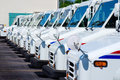 United States Postal Service delivery trucks Royalty Free Stock Photo