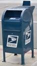 United States Postal Service postal box Royalty Free Stock Photo