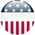 United States Round Button Stock Photography