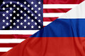 United states and russian federation flags illustration Royalty Free Stock Images