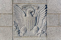 United states seal e pluribus unum the carved into stone in the world war two memorial in washington dc Stock Photos