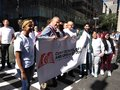 Students, Young People With US Senator Chuck Schumer, Labor Day Parade, NYC, NY, USA