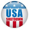 United states shutdown governement button vector Royalty Free Stock Image