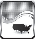United states on silver checkered wave backdrop Royalty Free Stock Photography