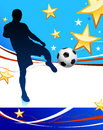 United states soccer player original vector illustration Royalty Free Stock Photos