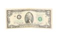 United states two dollar bill isolated on a white background Stock Image