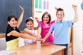United students and teacher Royalty Free Stock Photo