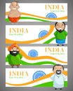 Unity in diversity vector illustration of indian people of different caste Stock Photography