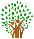 Unity in family of people tree logo