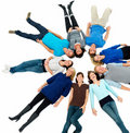 Unity - people lying beside copyspace Stock Image