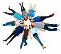Unity - people lying beside copyspace Royalty Free Stock Photo