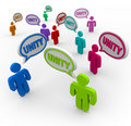 Unity - People Talking in Speech Bubbles Teamwork Stock Images