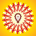 Unity symbol with idea concept