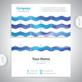 Universal business card - waves textur Royalty Free Stock Photo
