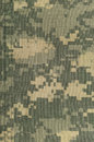 Universal camouflage pattern, army combat uniform digital camo, double thread seam, USA military ACU macro closeup, detailed large