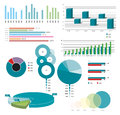 Universal collection gathering comparative charts Stock Photography