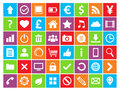 Universal colored icons web mobile minimalist style Royalty Free Stock Photos